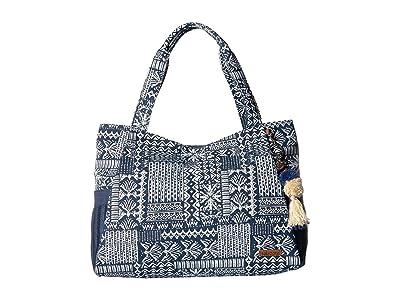 Sakroots Artist Circle Patomac Tote (Denim Tribal Beauti) Tote Handbags