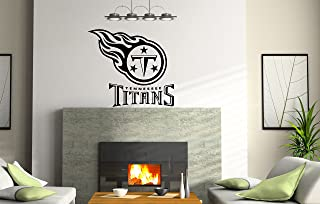 INCreation Company NCAA Tennessee Titans Logo TN Wall Decal Vinyl Sticker Mural Graphics Home Decor NFL Fan Room Customization