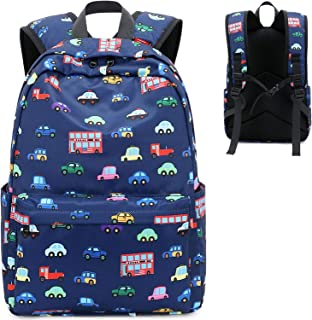 Preschool Backpack for Kids Boys Toddler Backpack Kindergarten School Bookbags (Y0057 Car-Navy Blue)