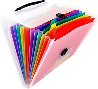 ملف ملف موسع 13 جيبًا A4 منظم ملفات الأكورديون بألوان قوس قزح، ملف ملف ملف ملف ملف ملف ملف ملف ملف ملف ملف كبير لدراسة مكت...