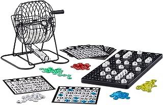 Relaxdays Bingo con Bombo, Juego Mesa, 1 Set, Bolas, Fichas