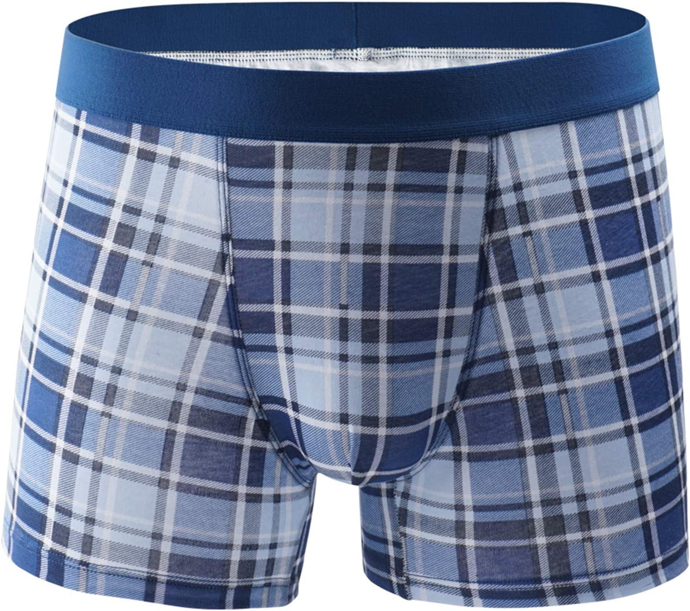 Clearance Men's Underwear - Boxer Briefs with Built-in Pouch Support Soft Breathable Lounge Shorts Underpants Clothing (Blue,Medium)