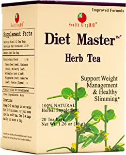 Sponsored Ad - Diet Master Herb Tea by Health King - Weight Loss & Healthy Slimming - ( 1 Pack, 20 Count, with Non-GMO, Ve...