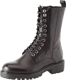 Damen Stiefeletten Flache Boots Lederoptik 899544 Schuhe