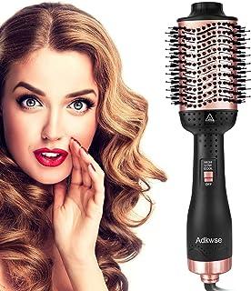 Aibesser Secador de pelo, 5 en 1 Upgrade Cepillo de aire caliente, Volumizer, Cepillo de aire caliente, cepillo de aire caliente, cepillo para rizar, cepillo para todos los estilos (negro coral)