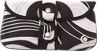 Boho Traders Swirl Wrap Around Clutch Bag, Black/White
