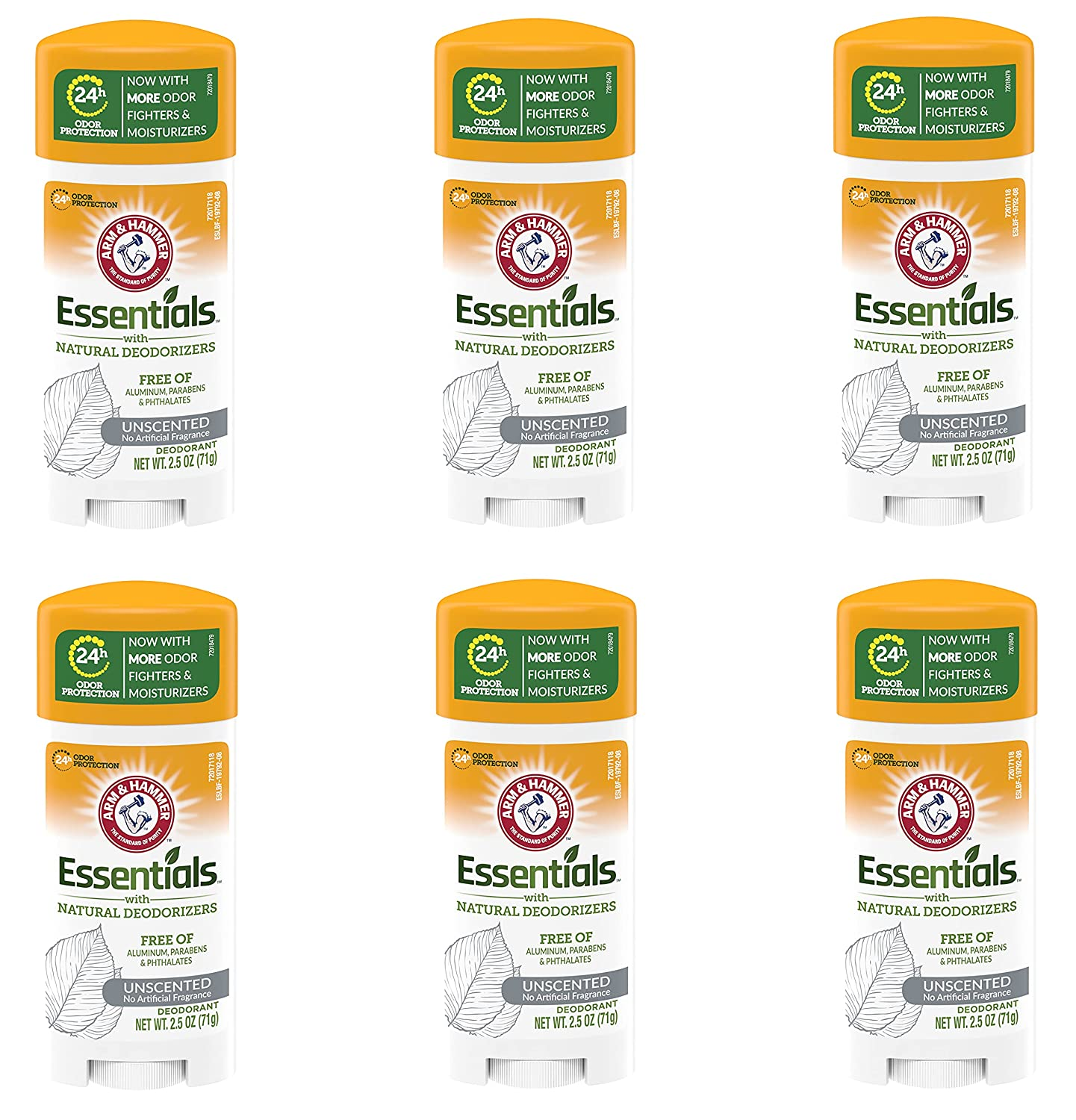Arm supreme Hammer Deodorant 2.5 Ounces Essentials National uniform free shipping Unscented 6 Pack
