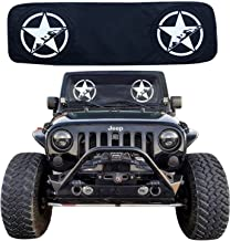 RoRex Jeep Wrangler Accessories JK,TJ,LJ,YJ Windshield Sunshade, fits Every Year Wrangler 1985-2018 Custom fit, Heat Shield Sun mat
