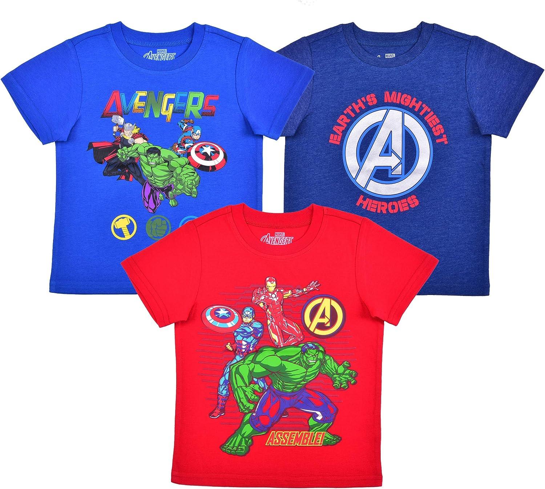 Marvel 3 Pack Boy's Avengers Short Shirt Sleeve Superhero Tee Our Low price shop most popular Se
