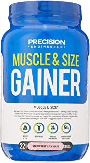 Precision Engineered Strawberry Flavour Muscle & Size Gainer Powder, Strawberry, 1.9 kilograms