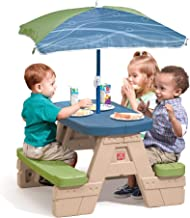 Step2 Sit and Play Picnic Table with Umbrella, Multicolor 841800