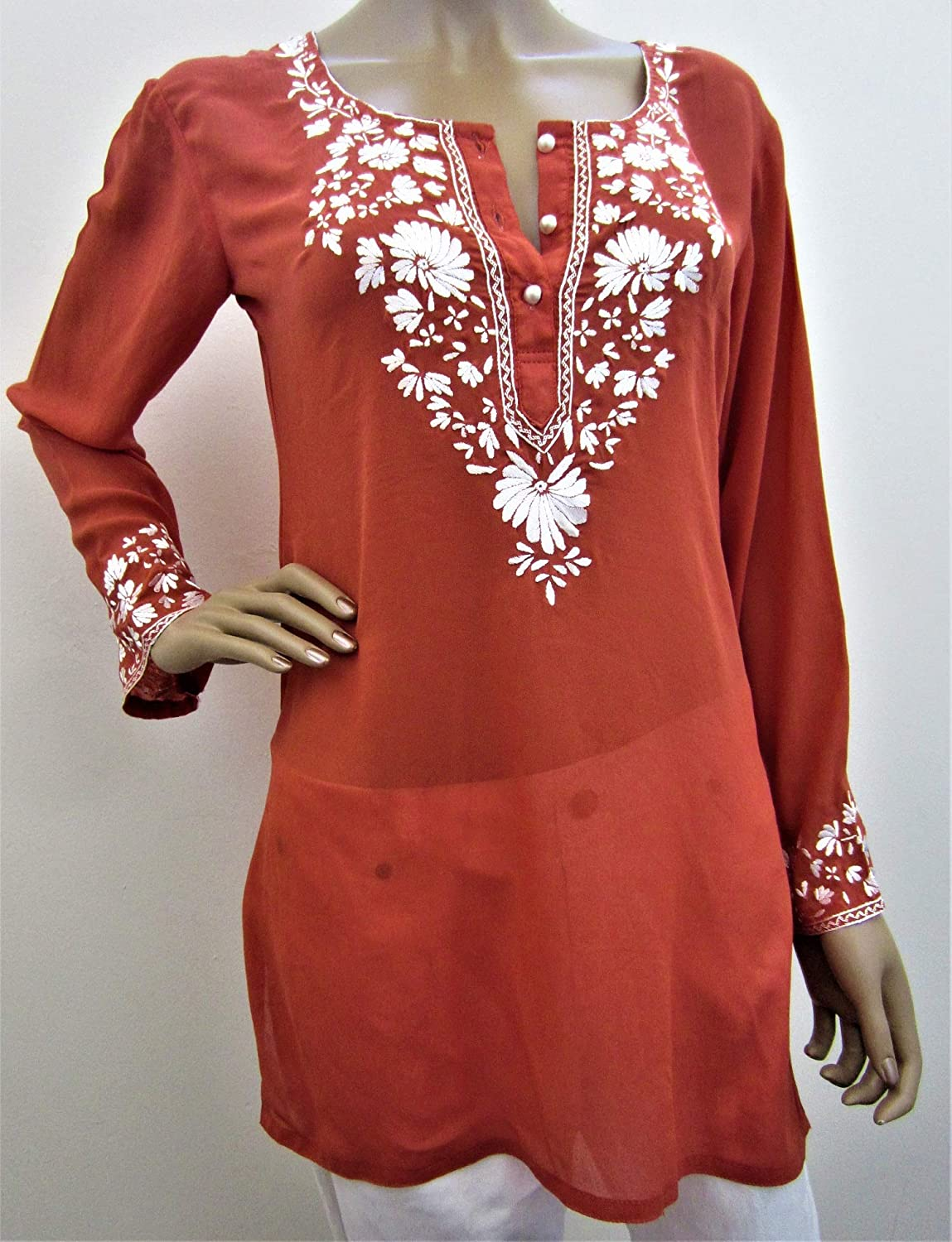 Fara Nawa Women's New Wholesale Exquisite Embroidered Tunic Designer Hand Opening large release sale