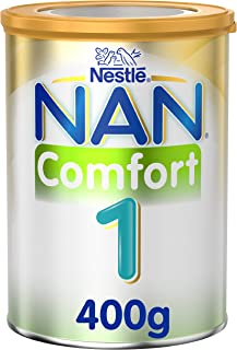 Nestle NAN COMFORT 1, From birth to 6 months, Starter Infant Formula for Colic, Gas, and Constipation, Fortified with Iron, 400g