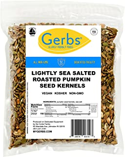 GERBS Lightly Sea Salted Pumpkin Seed Kernels, 64 ounce Bag, Roasted, Top 14 Food Allergen Free, Non GMO, Vegan, Keto, Pal...