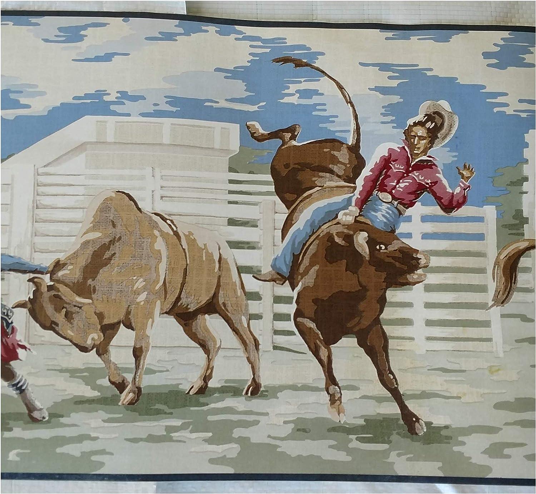 Opening large release sale Wallpaper gift Border Western Broncos Roping Cowboy