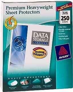 Avery Premium Heavyweight Diamond Clear Sheet Protectors, 8.5