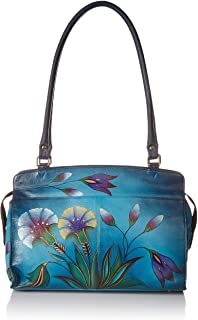 Anna by Anuschka womens Anna By Anuschka Hand Painted Leather Women's Large Satchel