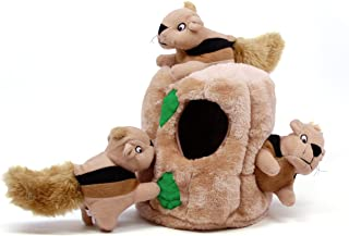 Outward Hound Hide-A Squeaky Puzzle Plush Dog Toy - Hide and Seek Activity for Dogs