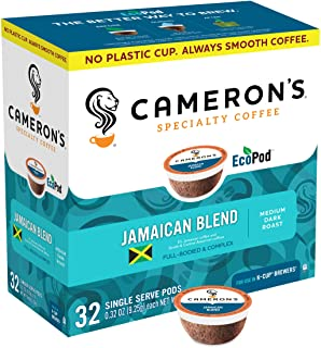 Cameron's Coffee Jamaican Blend Single Serve, 32 Count