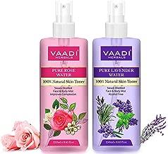 Vaadi Herbals Pvt. Ltd Pack Of 2 - Rose Water & Lavender Water - 100% Natural & Pure, 250 ml (Pack of 2)