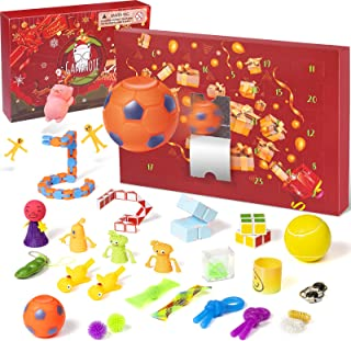 GAMENOTE Fidget Advent Calendar 2021 Christmas 24 Sensory Toys Pop Set Stress Relief Countdown Calendar for Kids Surprises...