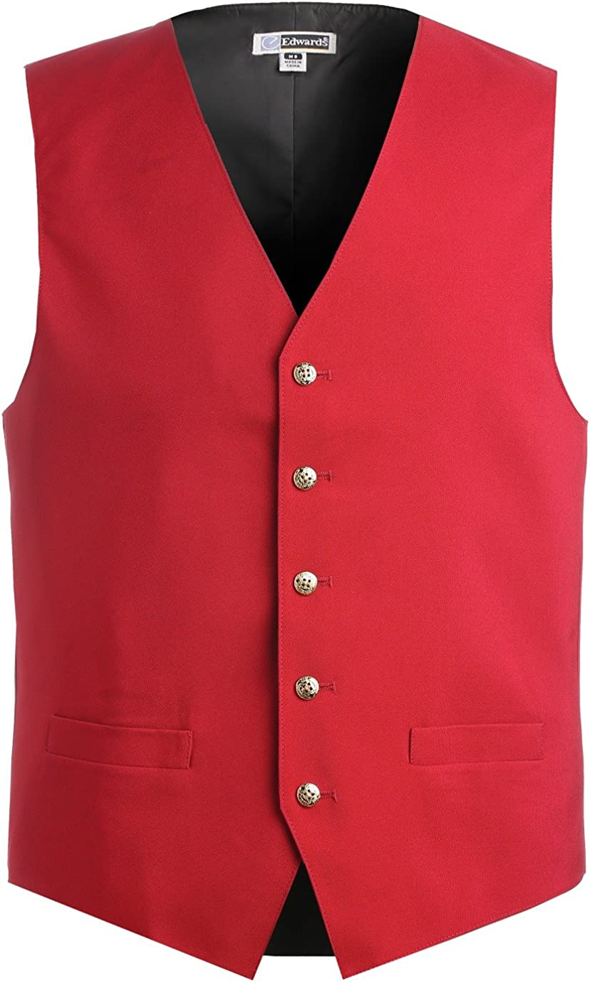 Edwards Men's Textured Weave Fully Lined Economy Vest, RED, XXXX-Large Tall