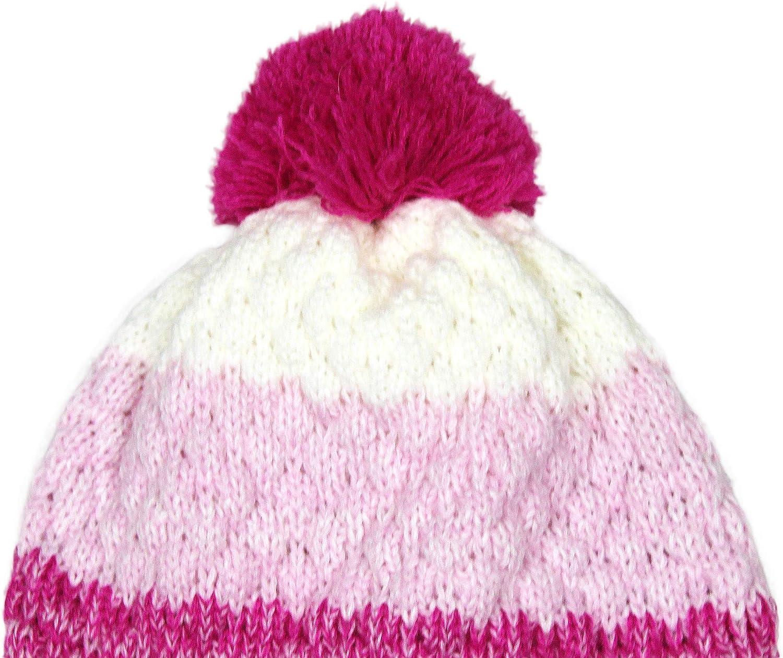 Bienzoe Girls Kids Winter Soft Warm Knit Hat Fleece Lined