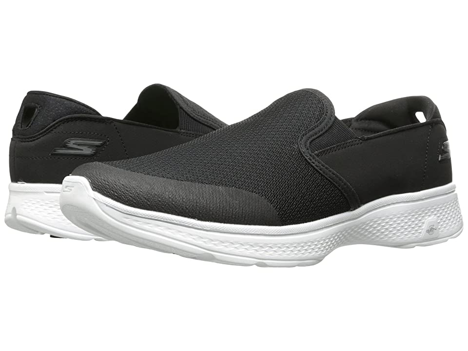 SKECHERS Performance Go Walk 4 Contain (Black/White) Men