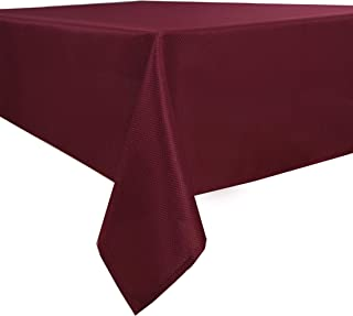 Biscaynebay Textured Fabric Tablecloths, Water Resistant...