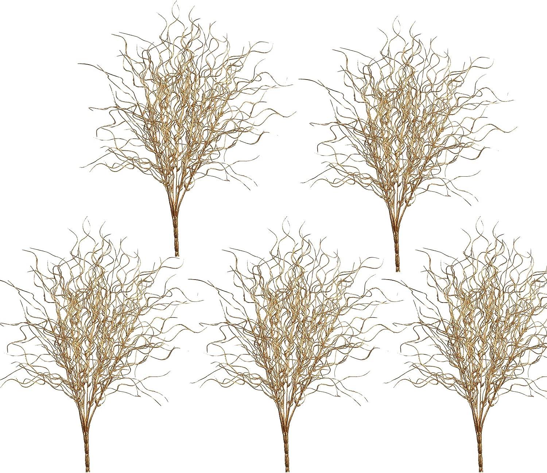 ACJRYO 5 Pcs Sparkle Curly Ting Branch inch Max 83% OFF Rare 21 Ti Glitter