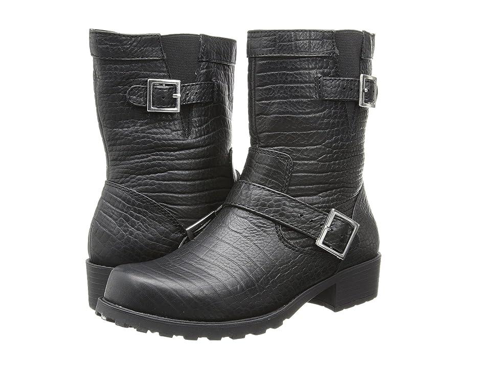 SoftWalk Bellville (Black Lizard Embossed Leather) Women