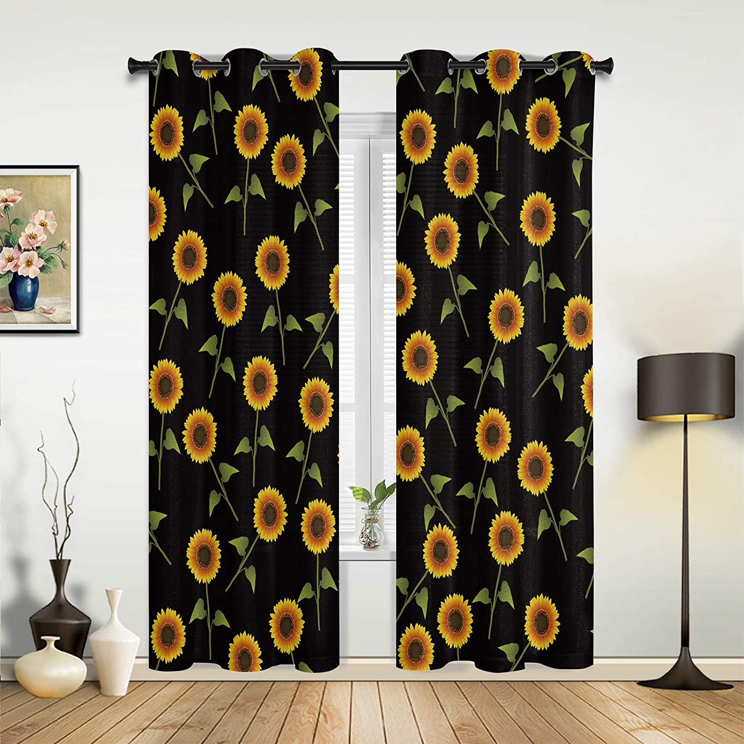 Beauty Decor Window Sheer Curtains for Max 74% OFF Living Bedroom Quality inspection Farm Room