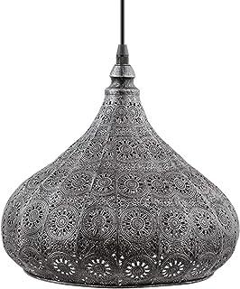 Eglo Lampe Suspension Melilla, 1 Lampe Suspendue Vintage Orientale Marocaine en Acier Antique, Lampe de Table à Manger, La...