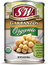 S&W - Organic Garbanzo Beans, Chickpeas, 15.5 Ounce Can (Pack Of 12), Canned Beans