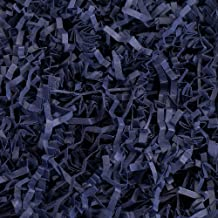 Crinkle Cut Paper Shred Filler (1 LB) for Gift Wrapping & Basket Filling - Navy Blue   MagicWater Supply