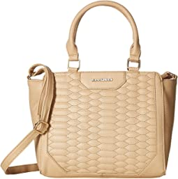 Quilted Snake Mini Satchel