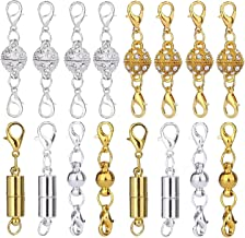 10Pcs Magnetic Clasps Strong Silver Gold Plated For Necklace Jewelry Making PMA
