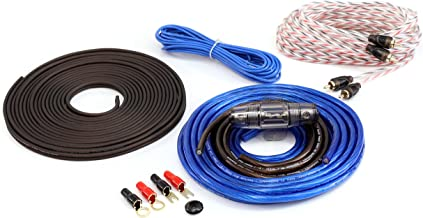 KnuKonceptz Bassik 8 Gauge Complete Amplifier Installation Amp Wiring Kit with RCA