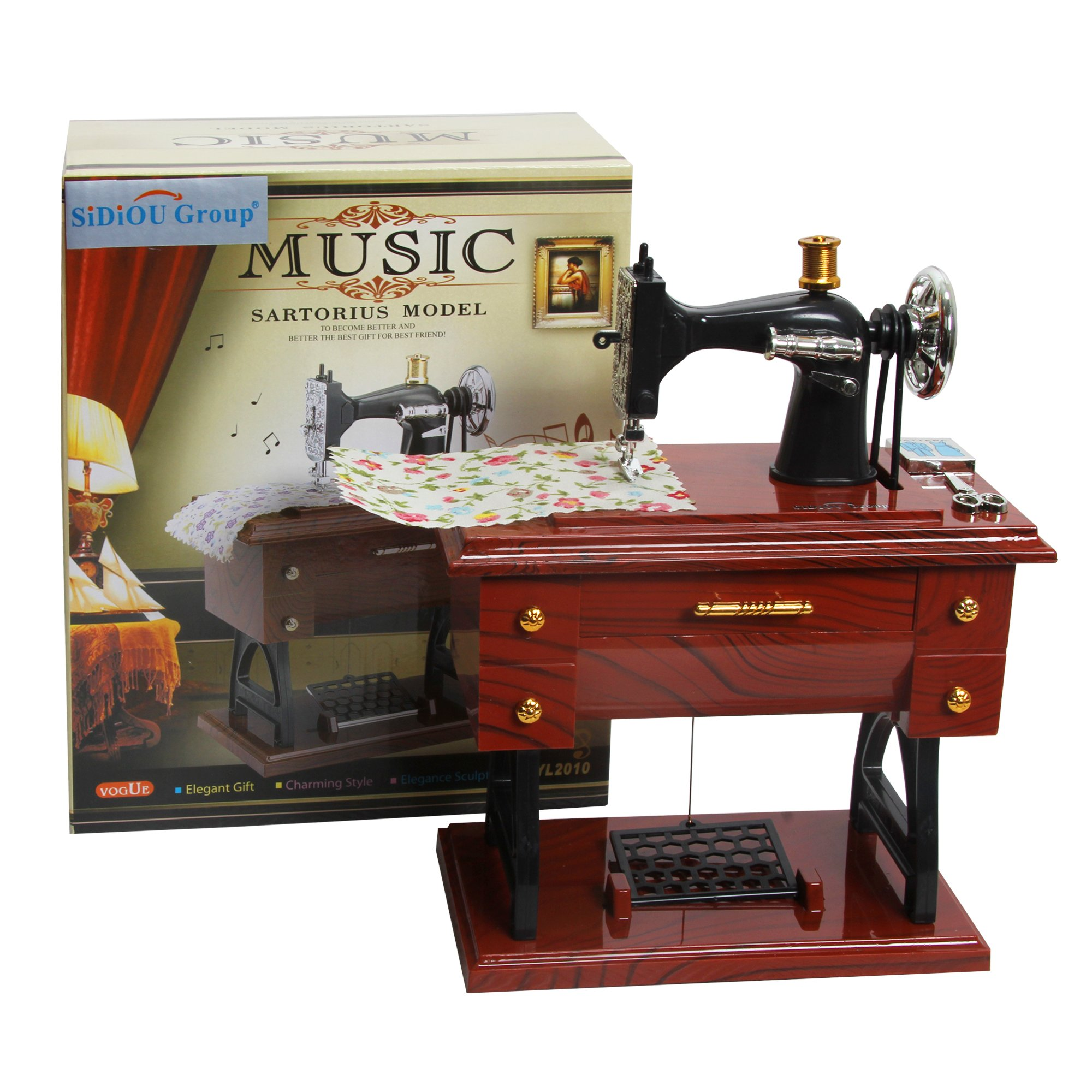 Sidiou Group Creativo clásico máquinas de coser modelo de caja de ...