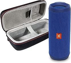 JBL Flip 4 Portable Bluetooth Wireless Speaker Bundle with Protective Travel Case - Blue