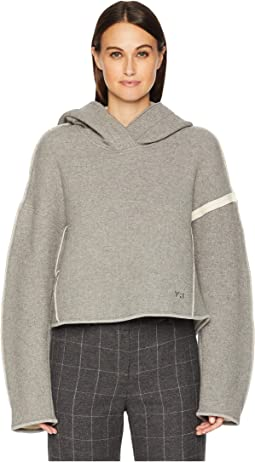 Oversized Spacer Wool Crop Hoodie