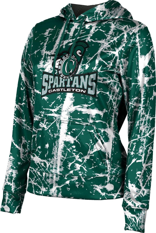 ProSphere Castleton University Girls' Pullover Hoodie, School Spirit Sweatshirt (Distressed)
