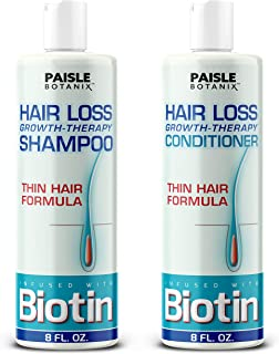 Biotin Shampoo and Conditioner for Hair Growth Shampoo and Conditioner for women Hair Regrowth for Men - Paraben Free and ...