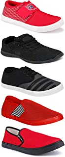 WORLD WEAR FOOTWEAR Sports Running Shoes/Casual/Sneakers/Loafers Shoes for MenMulticolors (Combo-(5)-1219-1221-1140-725-782)