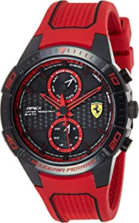Ferrari Unisex-Adult Quartz Watch, Analog Display and Silicone Strap 830639