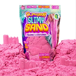 SLIMYSAND by Horizon Group USA, 3 Lbs of Stretchable, Expandable, Moldable, Non Stick, Slimy Play Sand in A Resealable Bag, Pink- A Kinetic Sensory Activity