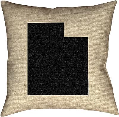 ArtVerse Katelyn Smith 16 x 16 Indoor//Outdoor UV Properties-Waterproof and Mildew Proof Connecticut Canvas Pillow