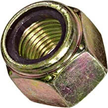 Steel Lock Nut, Zinc Yellow-Chromate Plated Finish, Grade 8, Right Hand Threads, Nylon Insert, 3/8