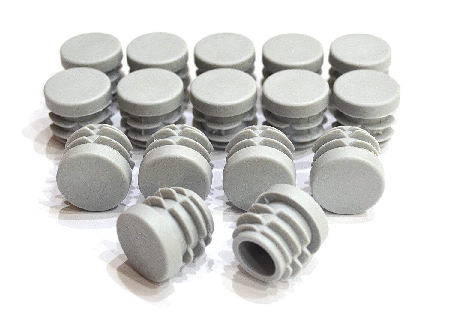 7//8 Inch Round Plastic End Cap for Hole Size from 23//32 to 13//16, Including 3//4 inches Furniture Finishing Plug Flat, Beige, 16