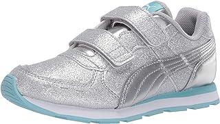 حذاء PUMA Vista Glitz Velcro للفتيات - فضي - مقاس 3 M US طفل صغير